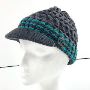 Lululemon grey knit visor cap